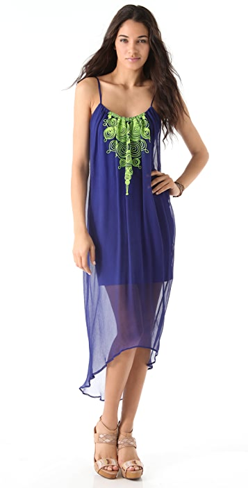 Twelfth St. by Cynthia Vincent Embroidered Cascade Dress
