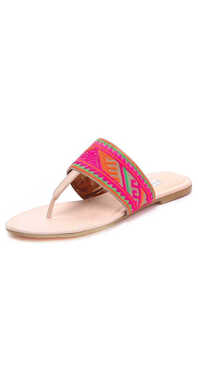 f69ea175a Twelfth St. by Cynthia Vincent Love Embroidered Thong Sandals