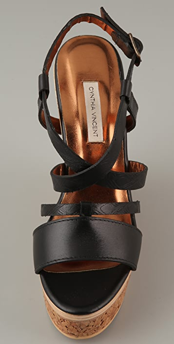 Twelfth St. by Cynthia Vincent Marlow Cork Platform Sandals