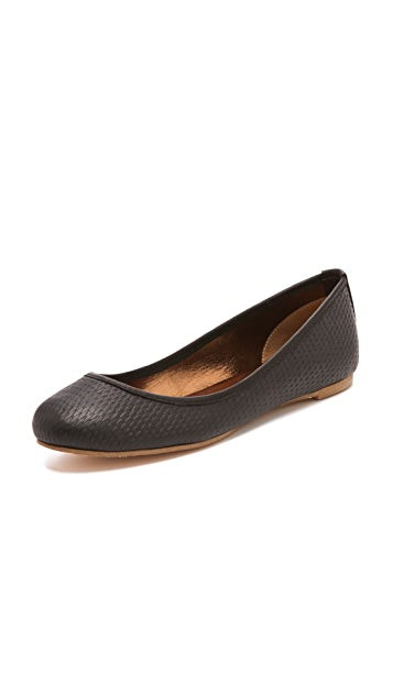 Twelfth St. by Cynthia Vincent Sage Embossed Ballet Flats