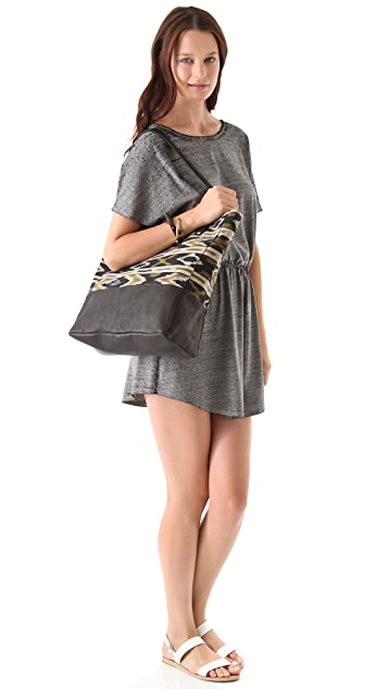 Twelfth St. by Cynthia Vincent Ex Boyfriend Woven Ikat Tote