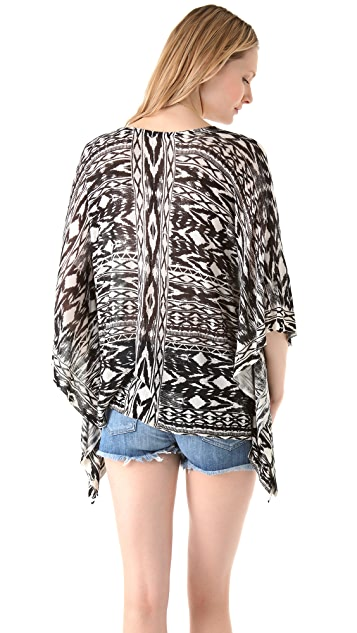 Twelfth St. by Cynthia Vincent Printed Caftan Sweater