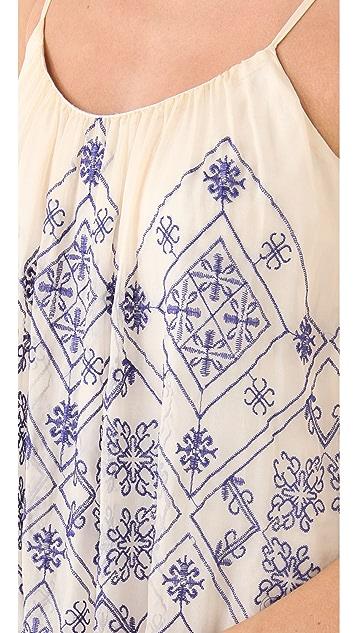 Twelfth St. by Cynthia Vincent Mini High Low Cascade Dress