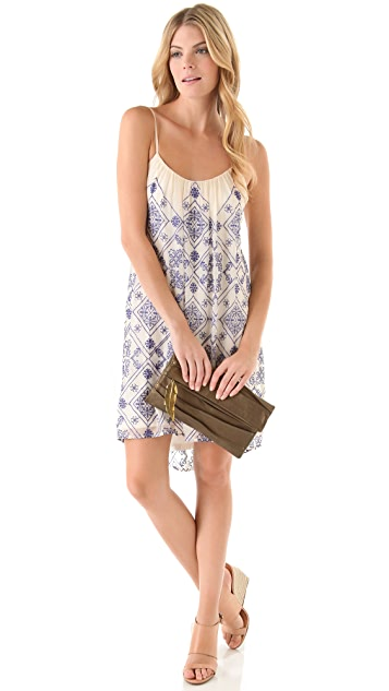 Twelfth St. by Cynthia Vincent Mini High Low Cascade Dress