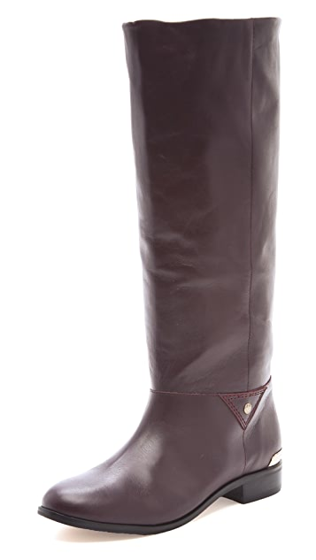 Twelfth St. by Cynthia Vincent Wells Gold Trim Riding Boots