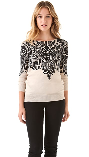 Twelfth St. by Cynthia Vincent Feather Print Sweater