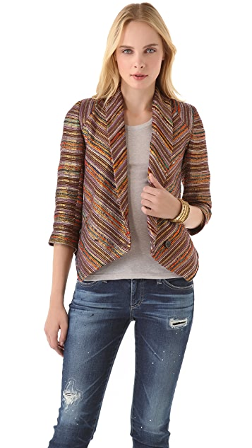 Twelfth St. by Cynthia Vincent Metallic Stripe Blazer