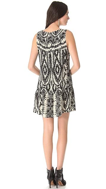 Twelfth St. by Cynthia Vincent Drop Waist Zebra Dress