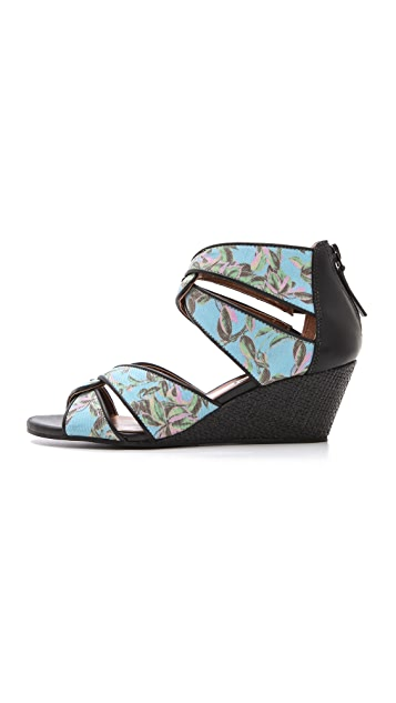 Twelfth St. by Cynthia Vincent Idra Canvas Wedge Sandals