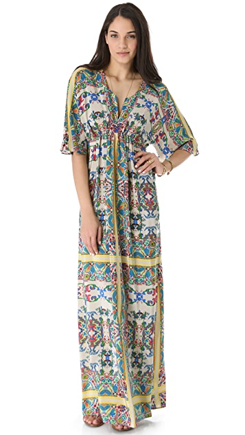 Twelfth St. by Cynthia Vincent Gathered Front Maxi Dress