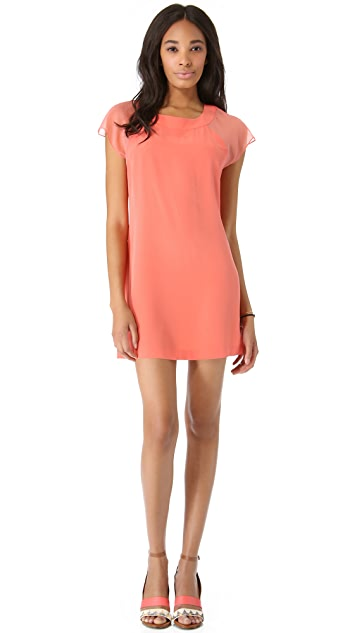 Twelfth St. by Cynthia Vincent Flutter Sleeve Mini Dress