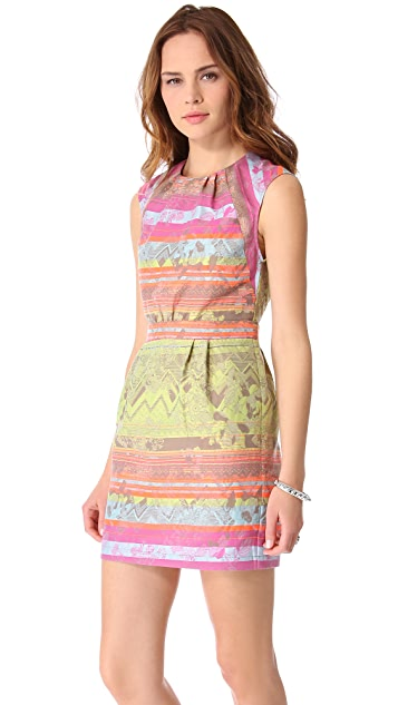 Twelfth St. by Cynthia Vincent Backless Jacquard Dress