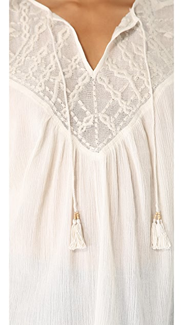 Twelfth St. by Cynthia Vincent Crochet Peasant Top