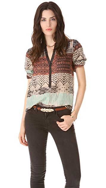 Twelfth St. by Cynthia Vincent Palma Button Blouse