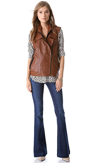 Twelfth St. by Cynthia Vincent Oversized Leather Vest
