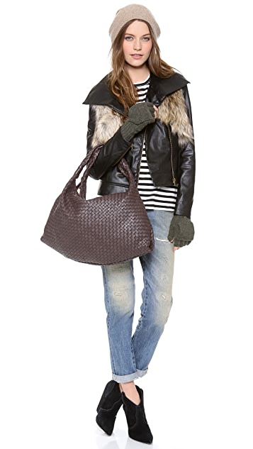 Twelfth St. by Cynthia Vincent Moto Jacket with Faux Fur Vest