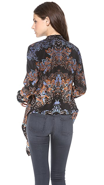Twelfth St. by Cynthia Vincent Dip Dye Drape Top