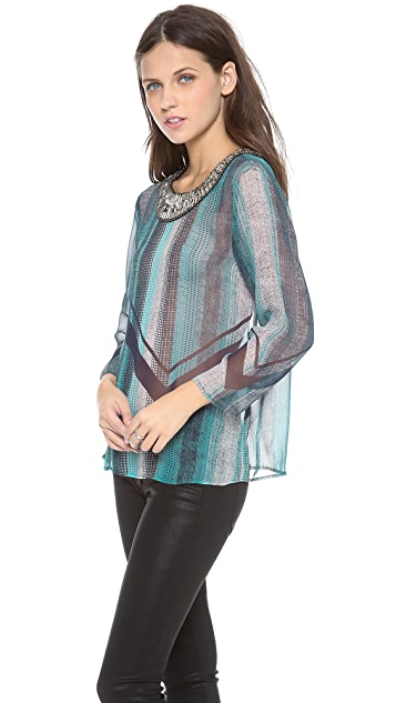Twelfth St. by Cynthia Vincent Embellished Blouse