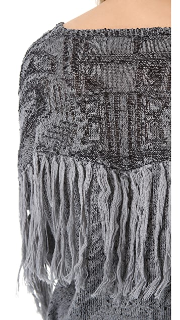 Twelfth St. by Cynthia Vincent Fringe Sweater