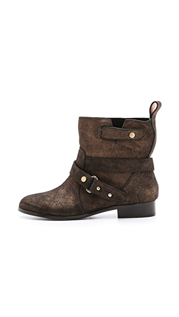 Twelfth St. by Cynthia Vincent West Metallic Suede Booties