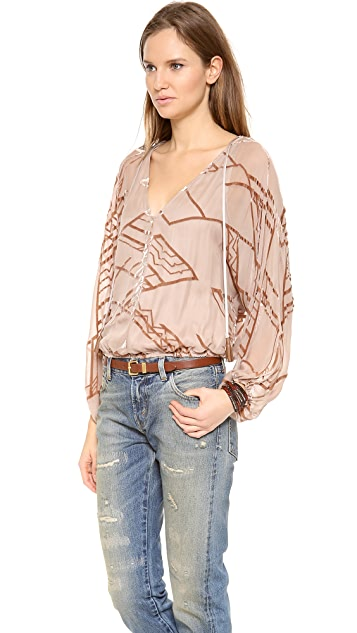 Twelfth St. by Cynthia Vincent Dolman Tie Front Blouse