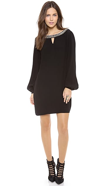 Twelfth St. by Cynthia Vincent Embellished V Back Shift Dress