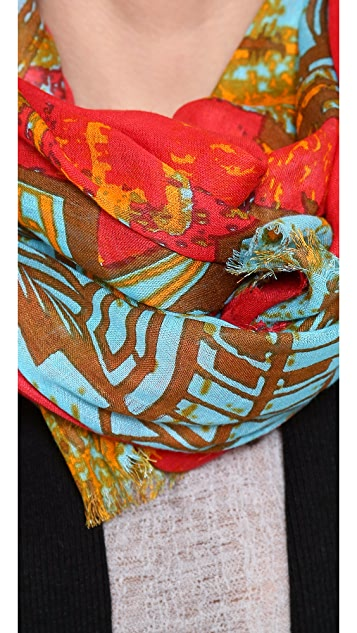 Twelfth St. by Cynthia Vincent Aztec Bird Scarf