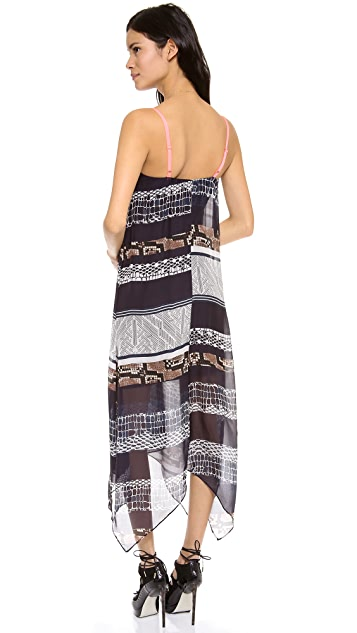 Twelfth St. by Cynthia Vincent Handkerchief Midi Dress