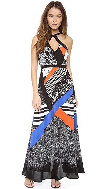 Twelfth St. by Cynthia Vincent Front Cross Maxi Dress
