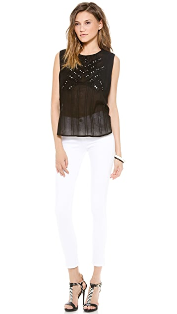Twelfth St. by Cynthia Vincent Embroidered Mirror Tank