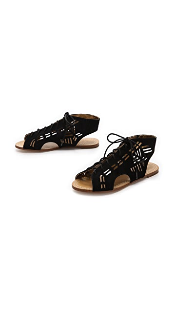 Twelfth St. by Cynthia Vincent Winima Laser Cut Sandals