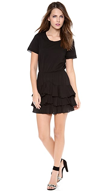 Twelfth St. by Cynthia Vincent Short Sleeve Ruffle Mini Dress