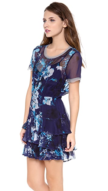 Twelfth St. by Cynthia Vincent Short Sleeve Ruffle Dress