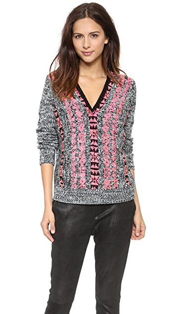 Twelfth St. by Cynthia Vincent Marled Pullover