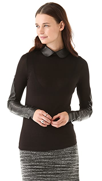 Twenty Sweater with Peter Pan Collar