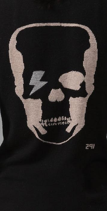 291 Skull Cashmere Boyfriend Cardigan
