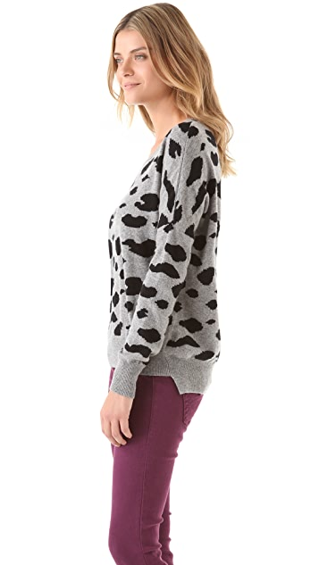 291 Cheetah Cashmere Pullover