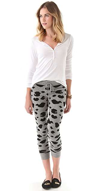 291 Cheetah Cashmere Lounge Pants