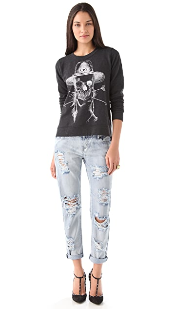 291 Native Skull Sweatshirt