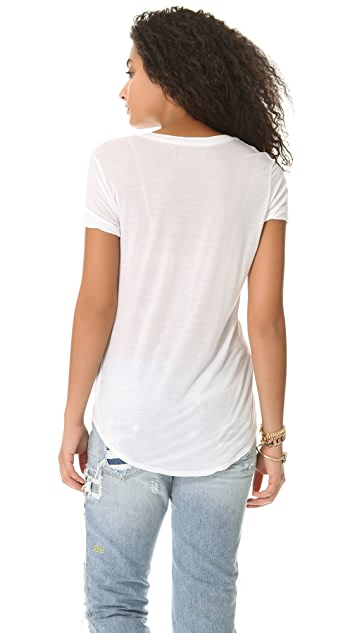 291 Short Sleeve Uneven Tee
