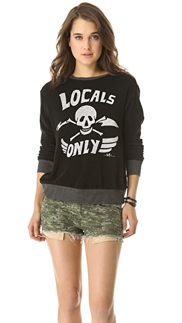 291 Locals Only Cross Back Pullover