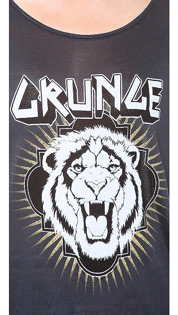 291 Grunge Line Hi Low Tee