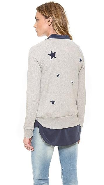 291 Allover Stars Long Sleeve Pullover