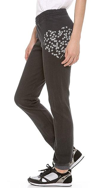 291 Star Filled Heart Slim Track Pants