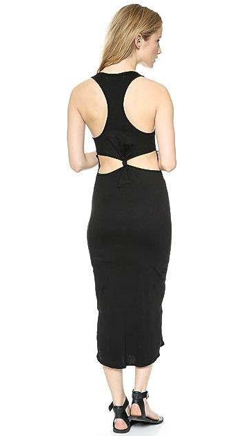 291 Back Knot Midi Dress