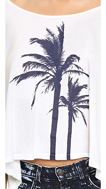 291 Palm Trees Cropped Boxy Tee