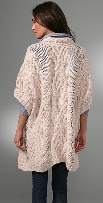 TEXTILE Elizabeth and James Charlotte Poncho Sweater