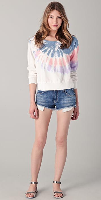 TEXTILE Elizabeth and James Tie Dye Perfect Sweatshirt