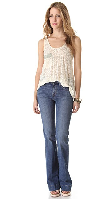 TEXTILE Elizabeth and James Linda Wide Leg Jeans