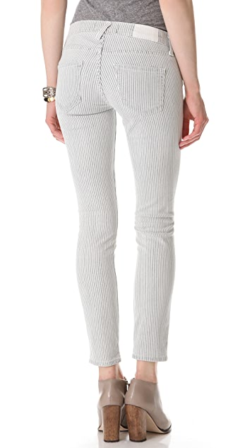 TEXTILE Elizabeth and James Ozzy Destructed Striped Skinny Jeans